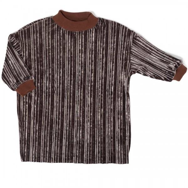 DAILY BRAT Gina Plissee-Kleid in chestnut