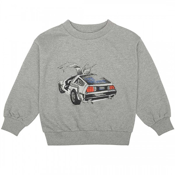 soft gallery Sweatshirt Drew, grey melange & Delorean
