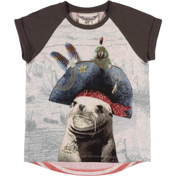 Paper Wings T-Shirt Sea Dog - gestreiftes T-Shirt mi Seehund Kapitaen