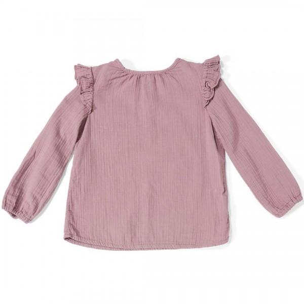 DAILY BRAT Bluse/Top Luna in dutsy lilac und mit langen Ärmeln.