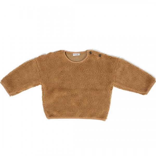 DAILY BRAT Teddy oversized Sweater in camel