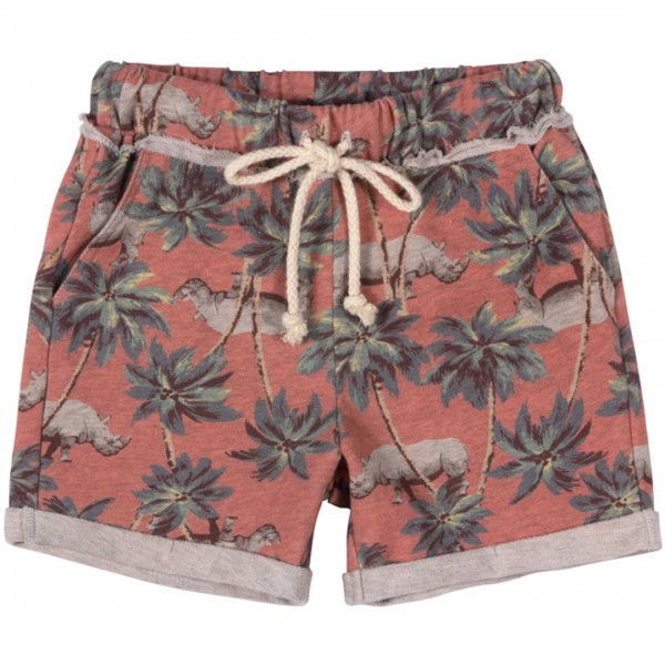 Paper Wings Cuff Trackie Shorts - kurze Shorts mit Palmen & Nashoernern