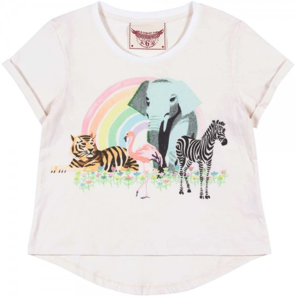 Paper Wings T-Shirt Rainbow Safari