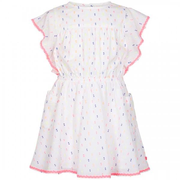 LEBIG weißes Kleid Nova mit Flügelärmel