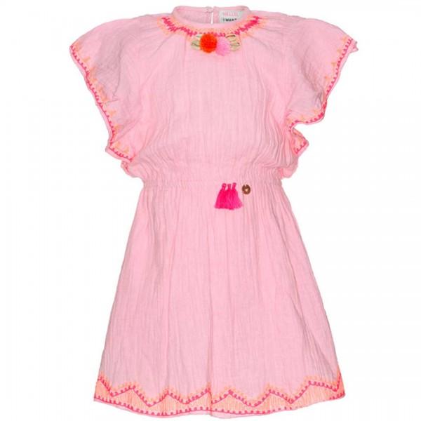 mim-pi rosa Ibiza-Kleid mit Muscheln