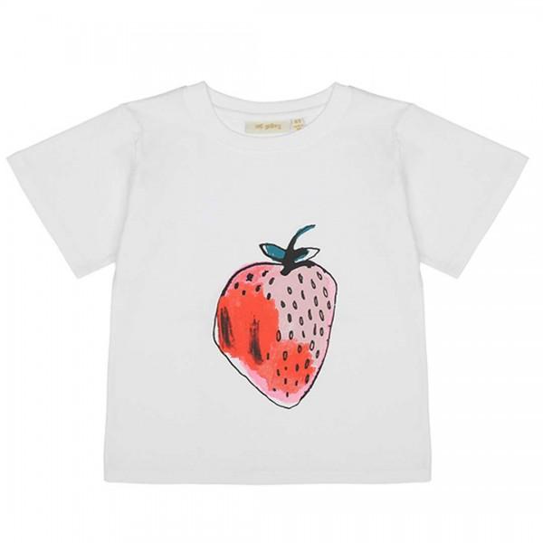"""soft gallery T-Shirt """"Dominique""""weiß mit Erdbeere"""