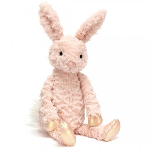 JELLYCAT Hase Dainty small in rosa mit glänzenden Pfötchen.