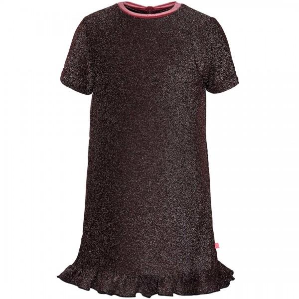 LE BIG Party-Kleid Ophelia in rosa mit Glitzer-Effekt und Volant