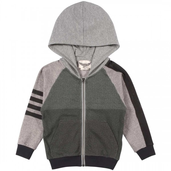 Paper Wings Hoodie mit Streifen in cotton unbrushed
