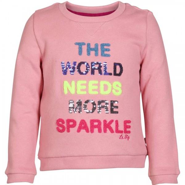 LE BIG Sweatshirt Tamara mit fröhlichem Schriftzug - tulpenkinder.com