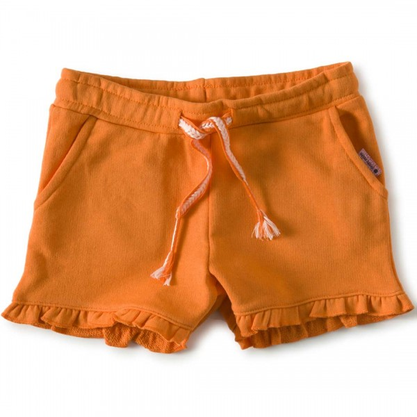 little label orange Rüschen-Shorts