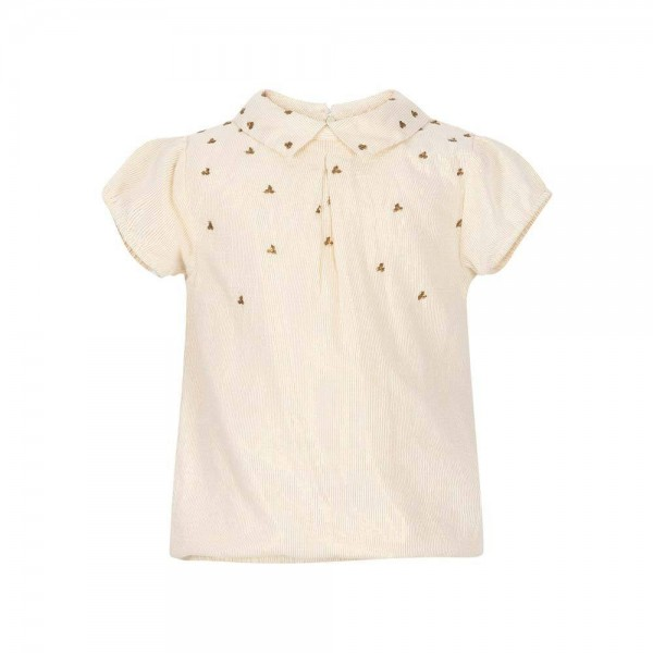 LEBIG Daisy Top/Bluse in creme und beige