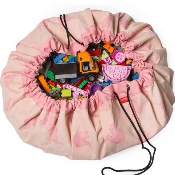 play & go Spielzeugsack pink elephant